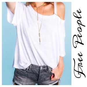 Free People We The Alex One Cold Shoulder Tee